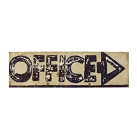 American Hand-Painted Office Sign