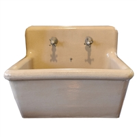 Early 20th Century Glazed Terra Cotta Sink