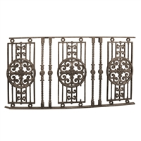Early 20th Century American Cast Iron Balcony Railing from the Sheridan Theater