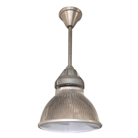 French Holophane Pendant Light