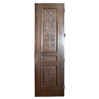 19th Century French Carved Wood Door