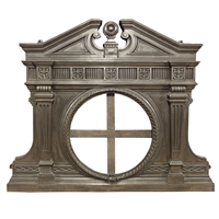 English Cast Iron Overmantel
