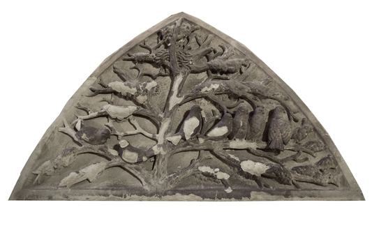 Stone Carved Panel from the E.W Blatchford Residence, 1875