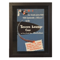 American Tavern Lounge Car Poster