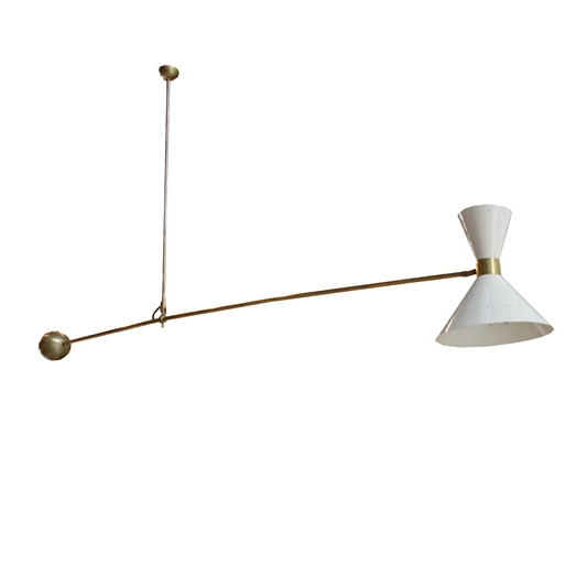 French Mid-Century Light Fixture