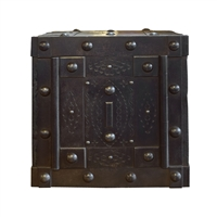 Italian Wrought Iron Hobnail Safe
