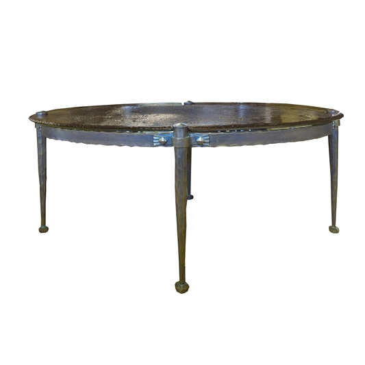 French Bronze and Cast Glass Low Table