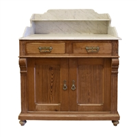 French Pine and Marble Commode