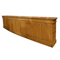 French Curved Pine Counter