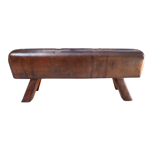 Czech Leather Pommel Horse Bench