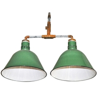 Double Pendant Industrial Light Fixture