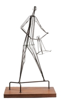 Kinetic Wrought Iron Sculpture by Robert Kuntz