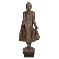 Carved Wood Buddha Statue