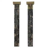 Pair of English Marble Pilasters