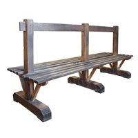 Italian Double-Sided Wood Bench