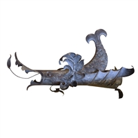 Italian Hammered Iron Dragon Downspout