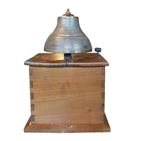 Italian Bronze Time Clock Bell