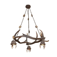 19th Century Antler Chandelier from a Bavarian Hunting Lodge