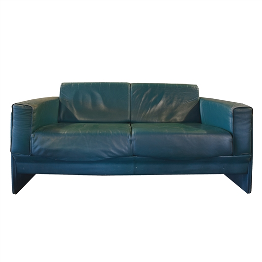 Italian Mid-Century Leather Sofa