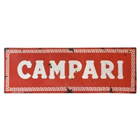 Italian Metal Campari Sign