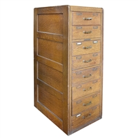 American Eight Drawer Filing Cabinet