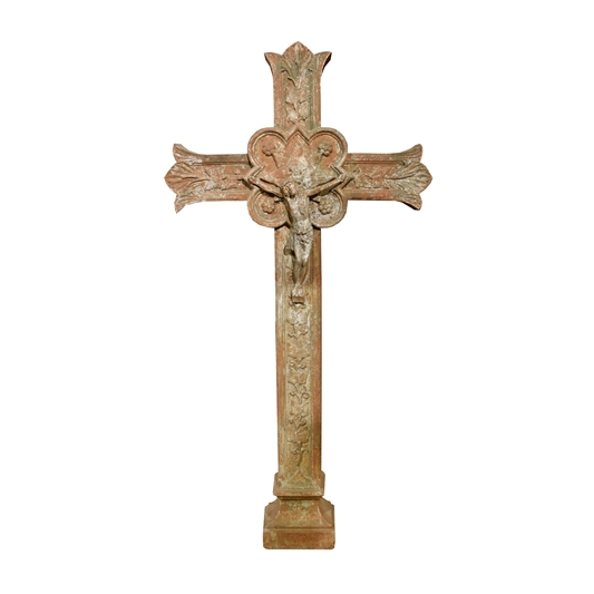 French Cast Iron Crucifix