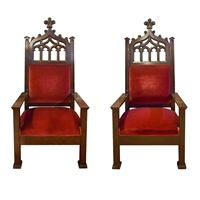 Pair of American Throne Chairs