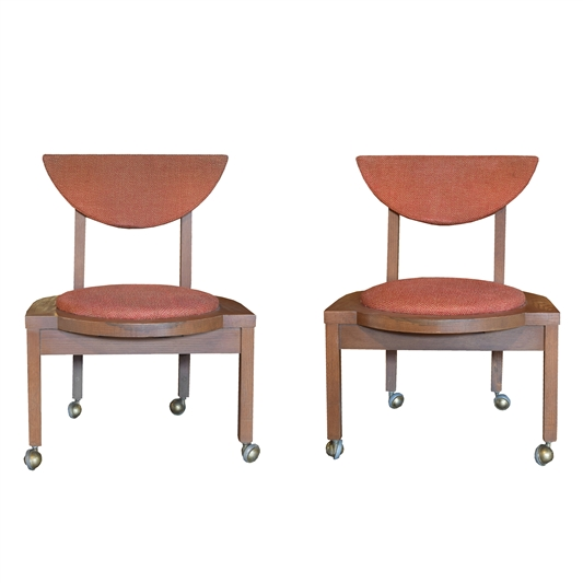 Pair Frank Lloyd Wright Designed Side Chairs, 1953