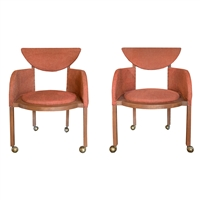 Pair Frank Lloyd Wright Designed Arm Chairs, 1953