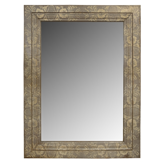 French Hand Painted Wood Mirror