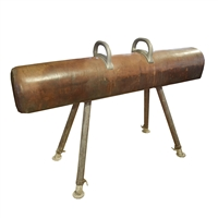 Leather, Wood, and Iron Pommel Horse