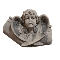 American Carved Limestone Angel