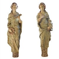 Pair of American Composition Statues