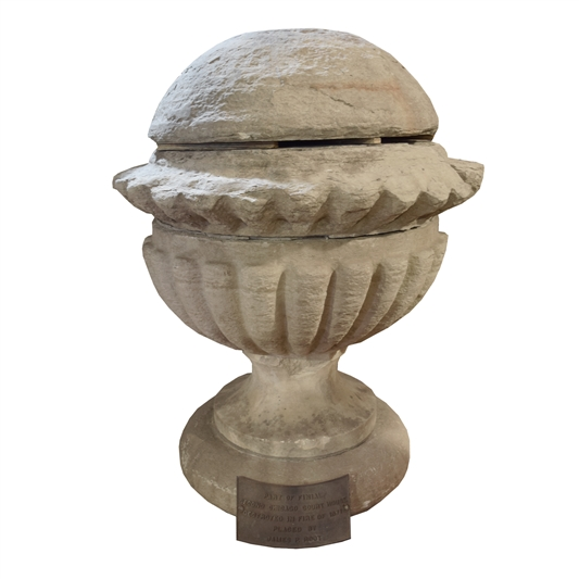 Original Carved Limestone Finial from the Second Chicago Courthouse
