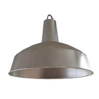 French Industrial Aluminum Fixture
