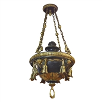 American Bronze Chandelier with Angels