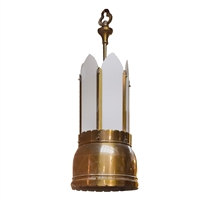 American Brass and Glass Light Fixture