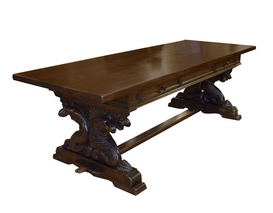 Heavily Carved Table from Italy