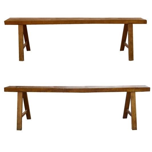 Pair of French Wood Benches