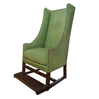 French Wingback Chair with Footrest