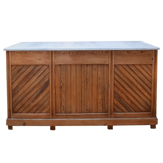 Early 20th Century French Pine Bakery Counter