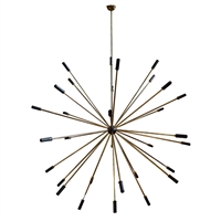 Original Mid-20th Century Stilnovo Sputnik Chandelier