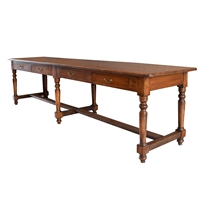 French Four Drawer Walnut Draper's Table