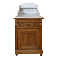 French Pine and Marble Cabinet
