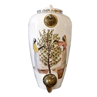 Italian Hand-Painted Coffee Bean Dispenser