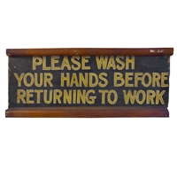 Wooden Bathroom Sign
