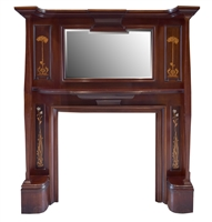 Very Rare English Mahogany Mantel