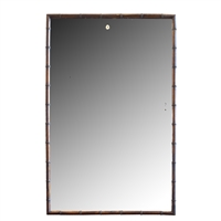 French Faux Bamboo Frame with Mirror