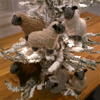RF530S Fuzzy Sheep Ornament