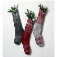 CLEARANCE!  RF562 Nordic Christmas Stocking